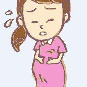 お腹が痛む妊婦