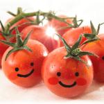 表情のあるトマト
