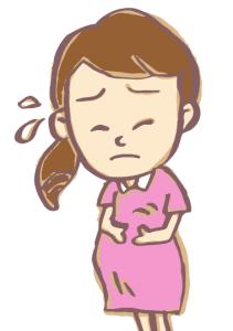 陣痛の痛みを感じるママさん
