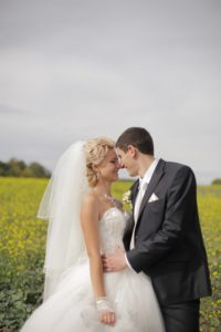 ウエディングドレスを着た結婚式