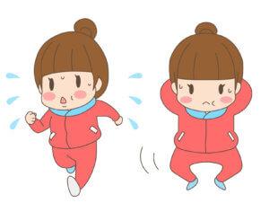 スクワットとジョギング
