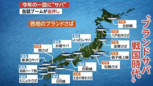日本各地のブランドサバ一覧