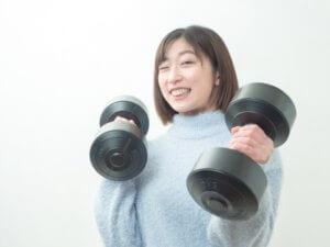適度な運動を必要とする女性