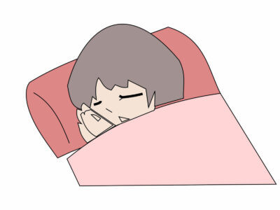 すやすや寝る妊婦さん
